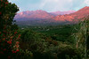 Sunrise Pink Moment from Meditation Mount Ojai Valley  Color of Ojai   , Light &amp; Spirit