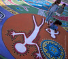 Ojai Day Street Painting with Children Rising from Painting Ojai Valley  Color of Ojai   , Light &amp; Spirit